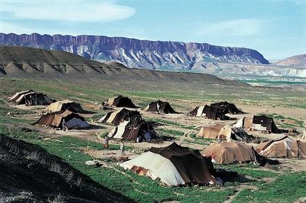 Nomadenzelte in Südpersien, um 1970